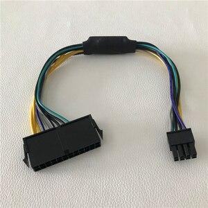 Image 2 - Оптовая продажа 100 шт/партия ATX 24Pin мама для DELL Optiplex 3020 7020 9020 T1700 Серверная материнская плата 8Pin Мужской кабель питания 30 см