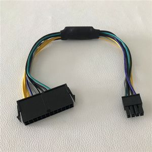 Image 2 - Wholesale 100psc/lot ATX 24Pin Female to for DELL Optiplex 3020 7020 9020 T1700 Server Motherboard 8Pin Male Power Cable 30cm