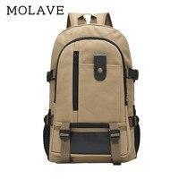 MOLAVE Backpacks backpack men Solid Laptop schoolbags zipper Large capacity backpack travel canvas student bag Backpacks Jan9
