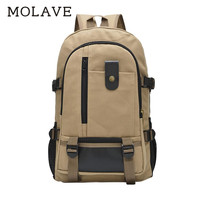 MOLAVE Backpacks backpack men Solid Laptop schoolbags zipper Large capacity backpack travel canvas student bag Backpacks Jan9