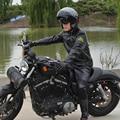Moda Hombres PU Chaqueta, Chaqueta de Carreras Profesional/de La Motocicleta, Chaqueta A Prueba de Viento/Impermeable/Equitación en ropa de la motocicleta