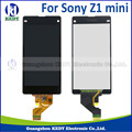 1 pcs original para sony xperia z1 compact mini display lcd com tela de toque digitador assembléia