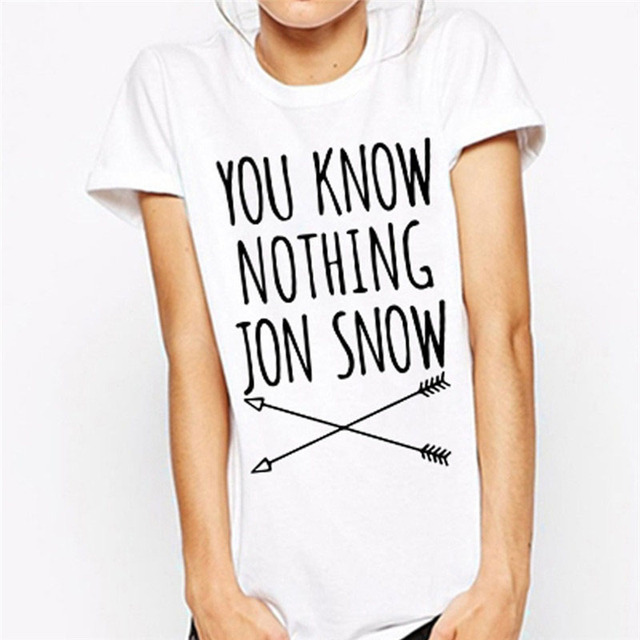 You Know Nothing Jon Snow Games Of Thrones T Shirt