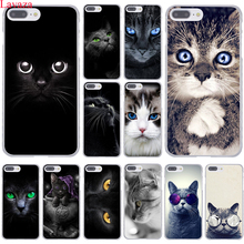 Lavaza Black Cat Staring Eyes Hard Coque Shell Phone Case for Apple iPhone 8 7 6 6S Plus X 10 5 5S SE 5C 4 4S Cover(China)