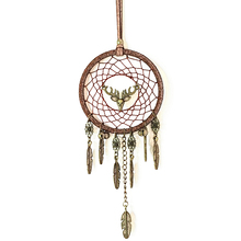 Car Pendant with Elk and Bells Wind Chime Dream Catcher Handmade Hanging Decoration Free Shipping