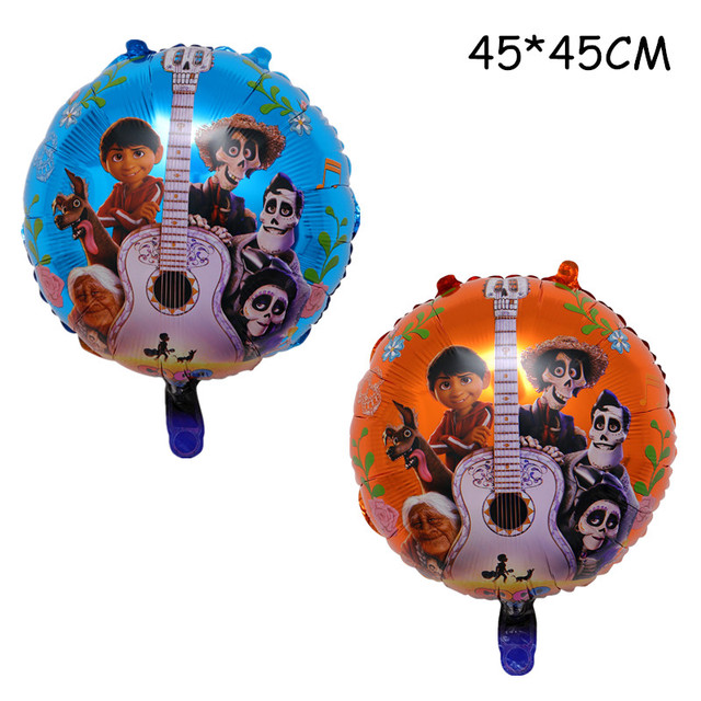 10 Pcs Happy Birthday Balloons 4545CM Hot Movie COCO Toys Children Gifts Toy Childrens