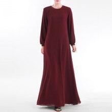 2020 Muslim Clothes S- 2XL Long Muslim Women Wear On Both Sides Dubai Abaya Maxi Dresses Islamic Clothing Lover Gift Drop #0426