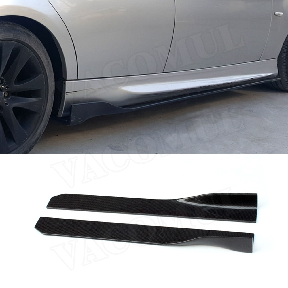 105 CM Universal Carbon Fiber Side Skirts Apron Lip for BMW E87 E90 E92 E93 F80 F82 F83 M4 F10 M5 All Cars image