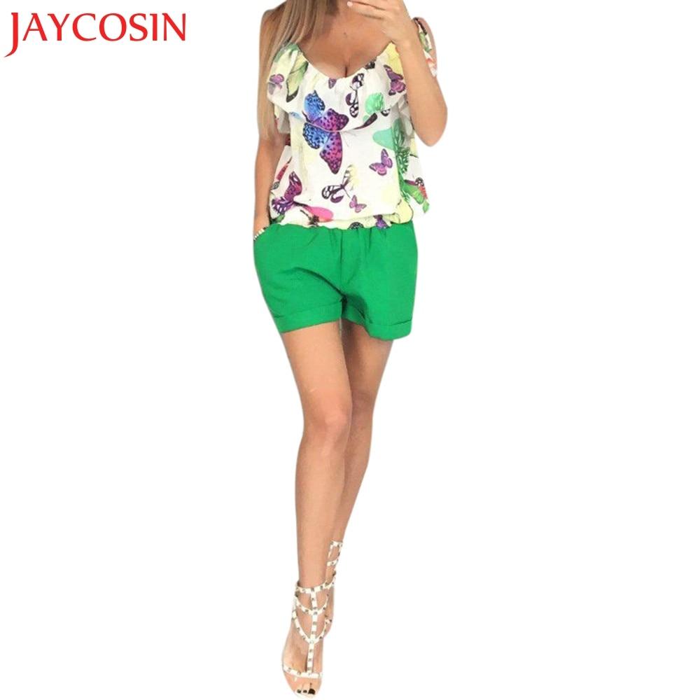 Womens Summer Playsuit Jumpsuits Ladies Sleeveless Beach Shorts Y783