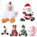 Aniversário Festa de Natal cosplay elf bebê crianças de pelúcia papai noel boneco rena elefante chapéu sapatos roupas traje da galinha