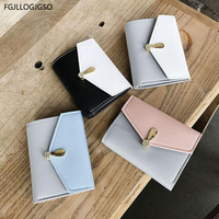 Female short PU leather wallet Women Europe fashion Diamond Three fold Mini wallet For lady thin new sexy coin purse girl wallet