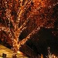 18 M 100 LED Blanca Cálida Hermoso Solar Luces de Hadas de la Boda de La Navidad Fiesta de Jardín Al Aire Libre Caliente de Búsqueda