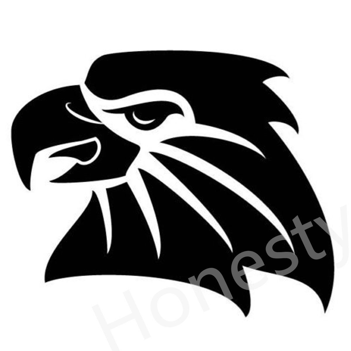 Car sticker eagle - Eagle Head Car Wall Home Glass Window Door Car Sticker Auto Car Truck Home Laptop Black
