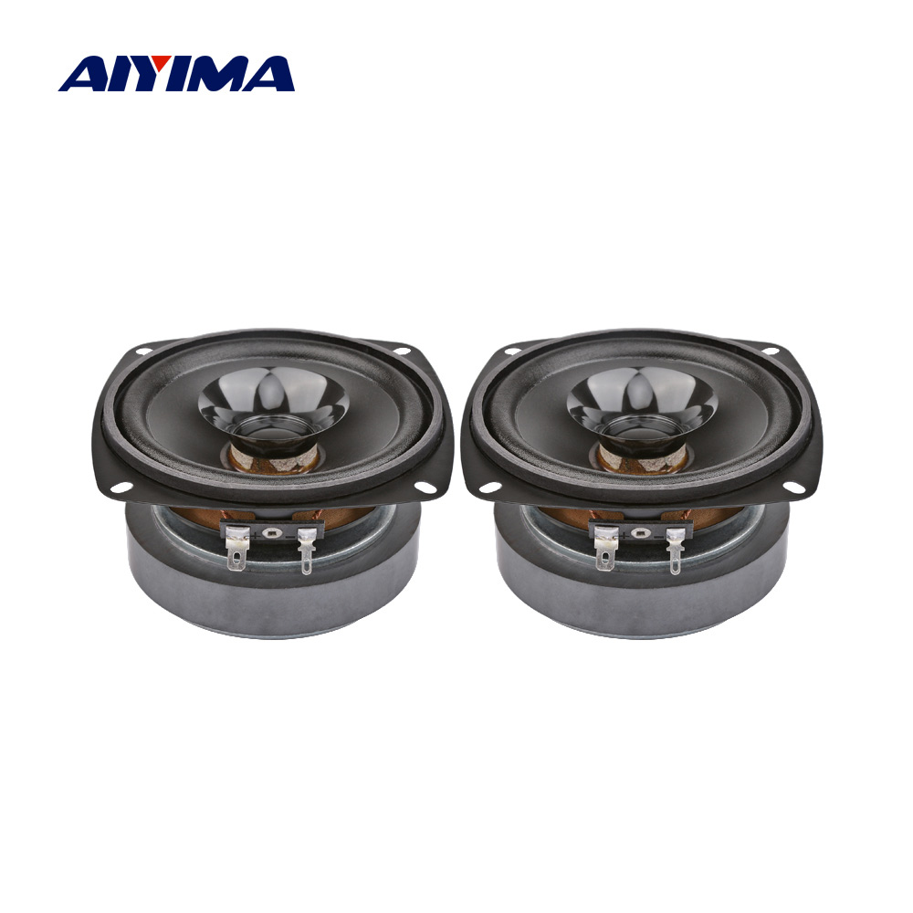 AIYIMA 2Pcs 4 Inch Audio Portable Sound Speakers Column 4 Ohm 20W Music Loudspeaker DIY Speaker