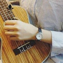 Изысканные маленькие простые женские платье часы ретро кожаный женский часы BGG бренд женской моды мини-дизайн наручные часы