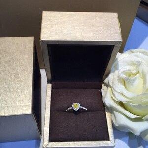 Image 3 - Naturale Diamante 18K Oro Anello di Oro Puro Bella Pietra Preziosa Anello di Buona di Lusso Alla Moda Del Partito Classico Gioielleria Raffinata Vendita Calda Nuovo 2020