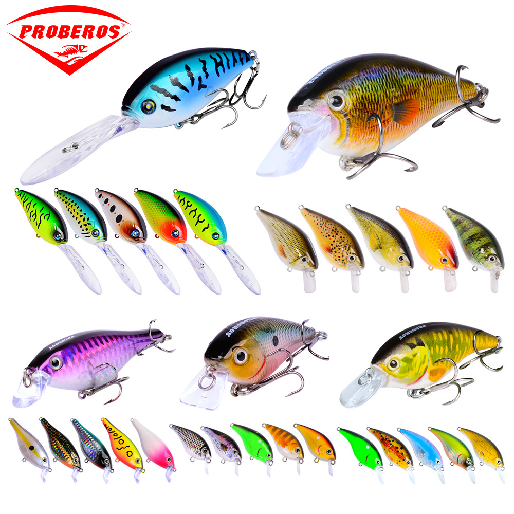 30pcs Classic Road Asia Fishing Bait Plastic Road Asian Hard Bait Road Minot Bionic Bait Lure