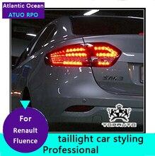 AUTO. PRO 2011-2015 Para Fluence LLEVÓ las luces traseras luces traseras LED Para Fluence LLEVÓ la lámpara trasera coche que labra luces led