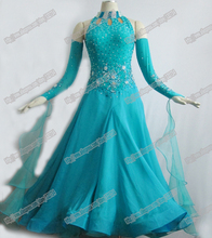 International Standard Ballroom Dance Competition Dress,Smooth competition Dress, Tango Dance Dress B-0134