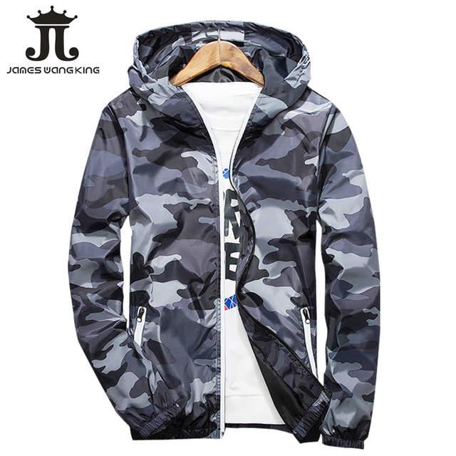 Baru 2018 Musim Gugur Berkerudung Jaket Pria Wanita Tipis Jaket Militer  Neon Zipper Fitur Windbreaker Biru 9361d4de12