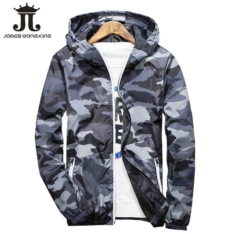 Neue 2018 Herbst mit kapuze jacke männer Dünne militär jacke Fluoreszierende zipper Eigenschaften windjacken blau jacken dropshipping M-4XL