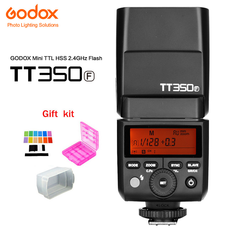 Godox Mini Speedlite Camera Flash TT350F TTL HSS GN36 High Speed 1/8000S 2.4G Wireless X System for Fujifilm Camera for X1T-F godox v860iic v860iin v860iis x1t c x1t n x1t s hss 1 8000s gn60 ttl flash speedlite 2 4g transmission godox softbox filter