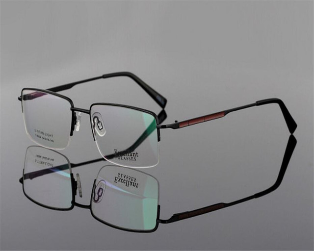 af00f81536c 54-18-140 Brand Design Men Half Rim Alloy Prescription Lens Optical Black  Gold Anti-fatigue Presbyopia Reading Glasses ZJH8004