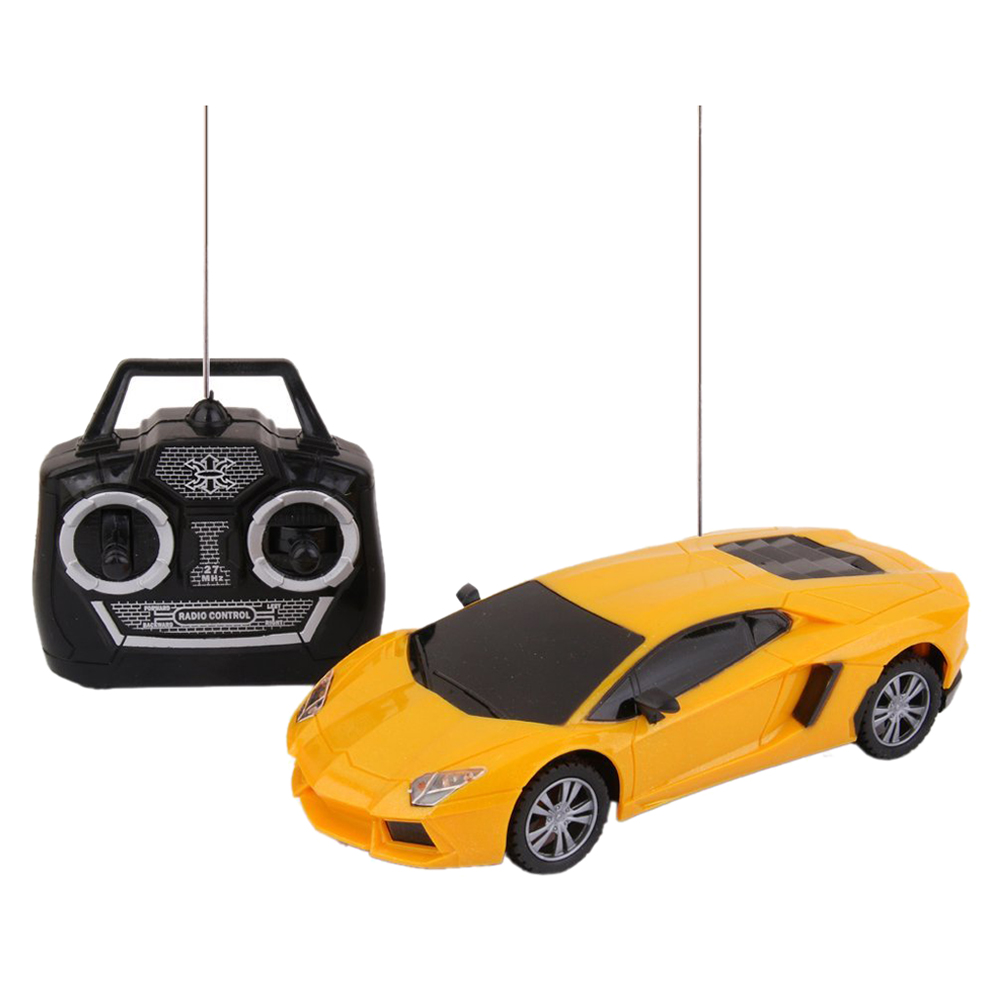 1:24 RC Car Boys Toy 4 Channel Electric Remote Controlled Car Children Model Gift With LED Light radio-controlled car