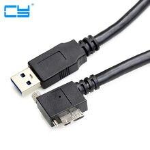 5 m cabo de sincronização de carga micro usb 3.0 angular com fios para fixação de interface usb3.0