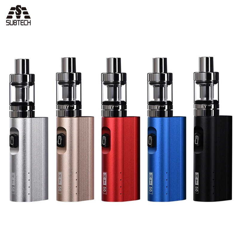 Original HT 50 mods cigarrillo electrónico kit 2200 mAh 50 W kit e-cigarrillos 2,0 ml atomizador hookah vape kit de la pluma