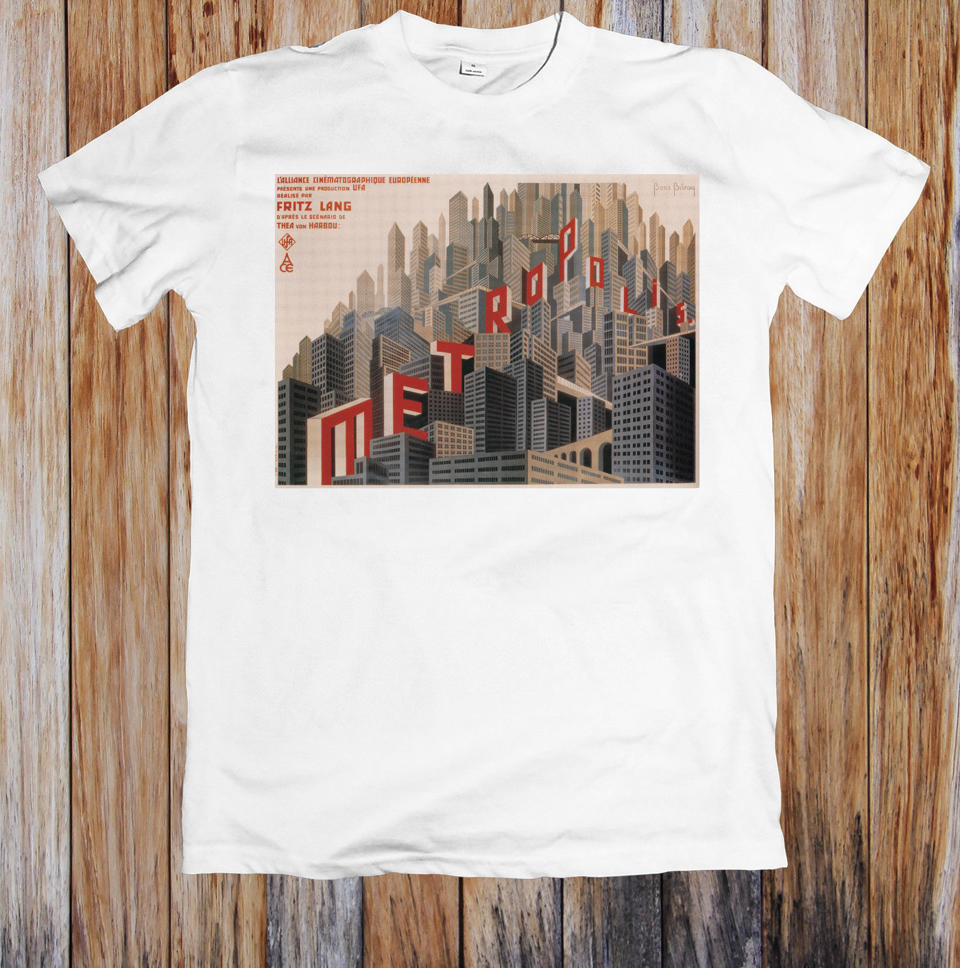 METROPOLIS 1920s RETRO SICI FI MOVIE POSTER UNISEX T SHIRT Hot Sell 2018 Fashion T Shirt Short Sleeve Tricolor in T Shirts from Men 39 s Clothing