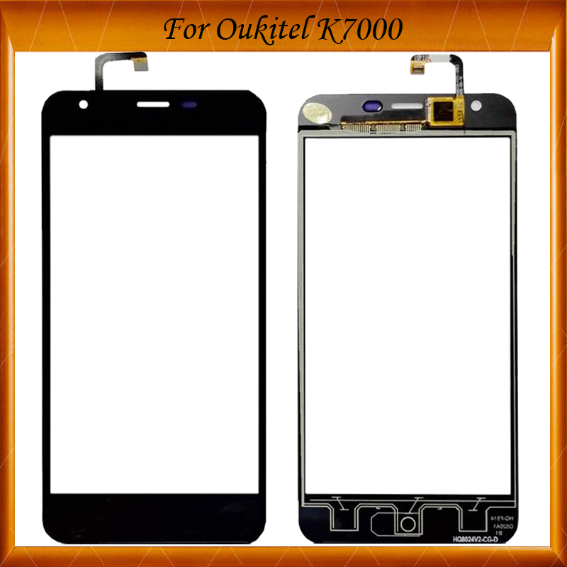 For <font><b>Oukitel</b></font> <font><b>k7000</b></font> Digitizer Touch Screen Glass 100% New Glass Panel Touch Screen For <font><b>K7000</b></font> Touch image