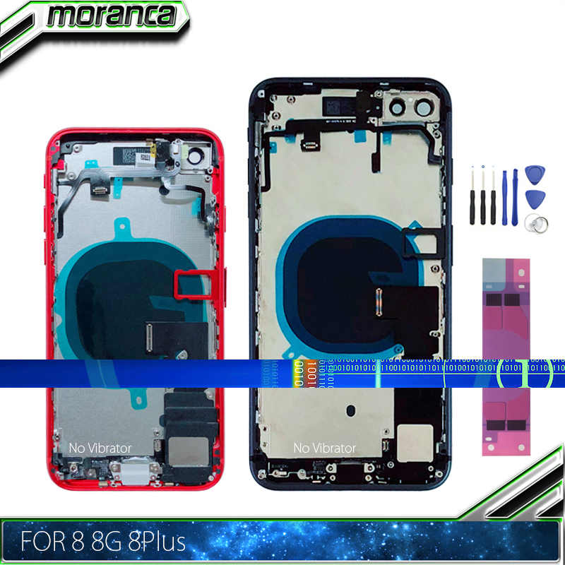 Back Cover for iPhone 8 8G Plus 8Plus Back Full Housing Battery Door Middle  Frame Chassis with Flex