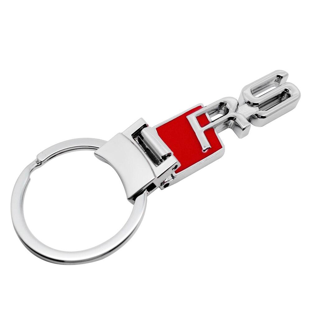 Metal Car Logo Keychain Keyring Key Chain Key Ring For Audi RS A4 B6 A6 C5 A4 B8 RS3 RS4 RS5 RS6 RS7 A4 B5 A6 C6 A4 B7 A3 A4L