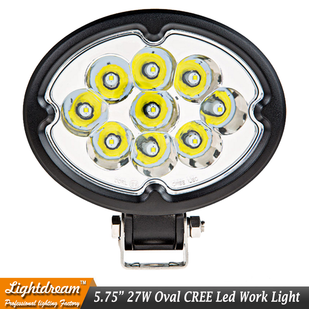 6 27W Oval LED Work Light 12V 24V Offroad Fog Lamp Car Auto Truck ATV Motorcycle Trailer Bicycle 4WD 4x4 12v 24v Spot Flood X1 ...