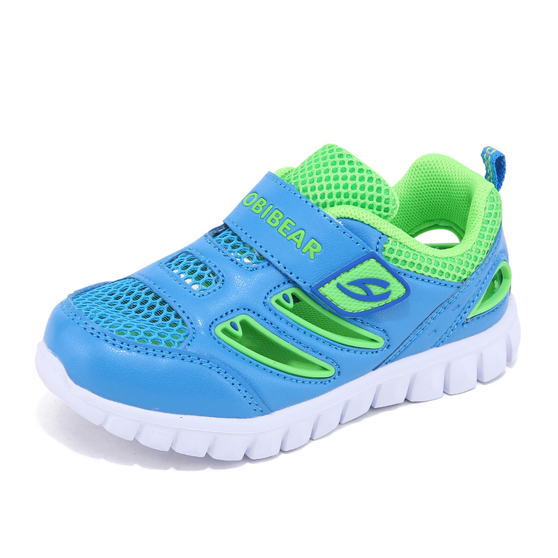 Anti-slippery Toddler Sneaker For Boys Fashion Colorful Children Casual Shoes Hook & Loop Kids Footwear Child School Shoes Blue