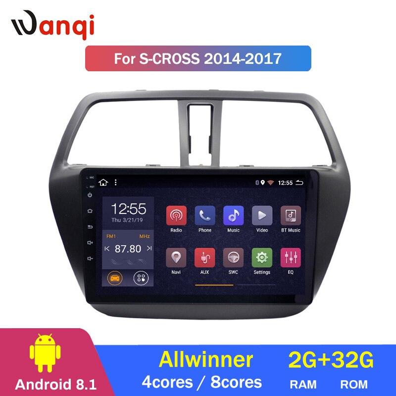 2G RAM 32G ROM Android 8.1 Car Multimedia Player for Suzuki S CROSS 2014 2017 Car DVD GPS Navigation