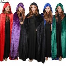 Halloween-Costume Cape Magician Fantasia Robe Hooded Cosplay Clothing Death Women Cloak