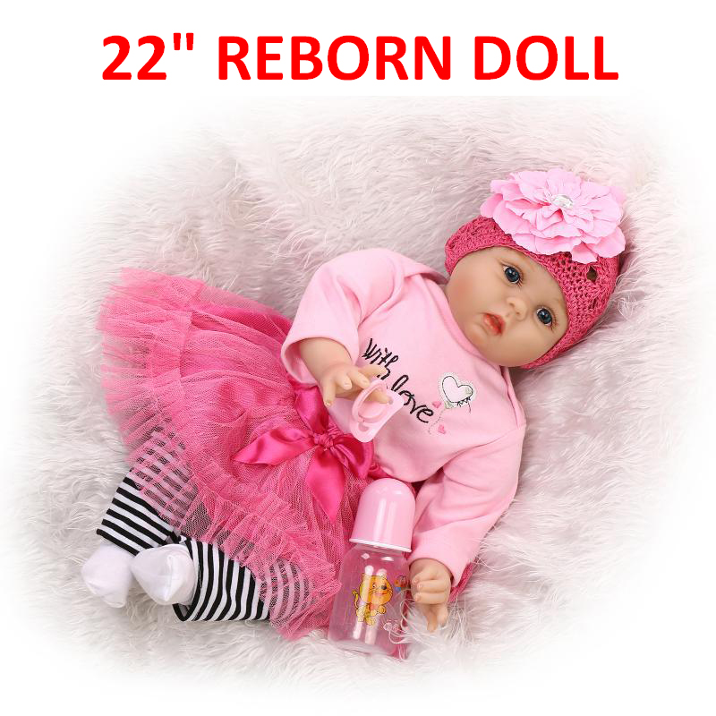 """Reborn Baby Dress Princess For 22/"""" Doll Girl Clothes Outfit Newborn Bebe Gift Go"""