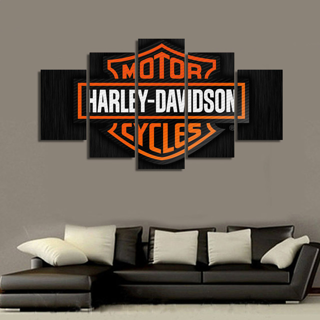 5 Panel Canvas Art Painting Printed MotorCycles Unframed Home Decor Fashion  Wall Sport Poster For Living