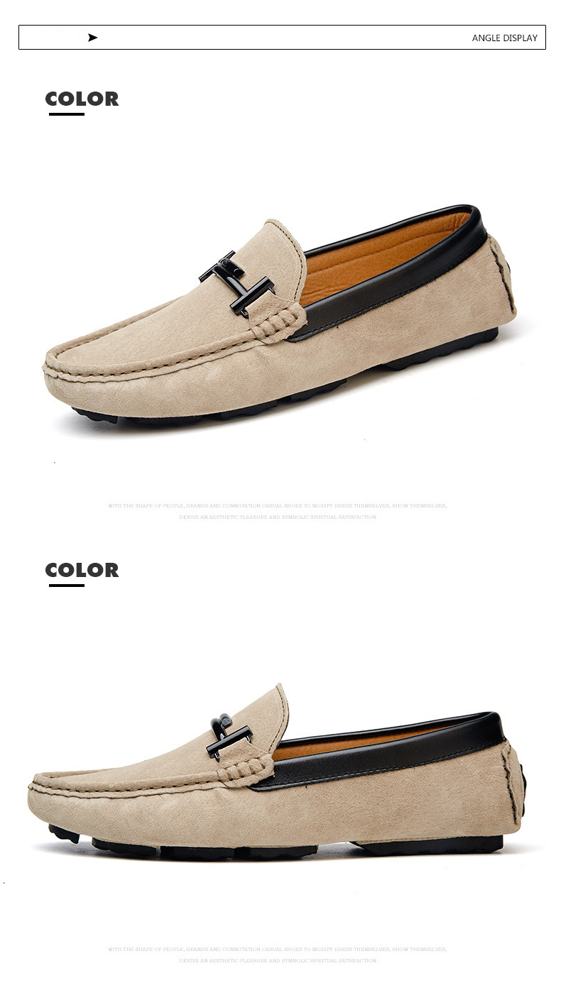 Men's Top Brand Fashion Casual Soft Loafers Suede Boat Shoes Male Footwear Adult Drivings Summer Moccasins Hommes Plus Size 11 71