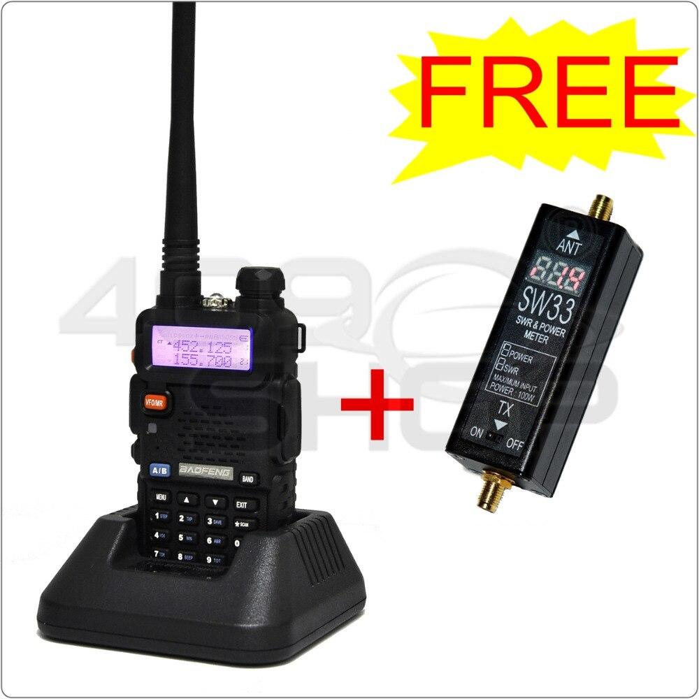imágenes para 409 tienda UV5R UV-5R de Banda Dual de JAMÓN de RADIO LIBRE SW33 SW-33 VHF/UHF mini Potencia y SWR Meter