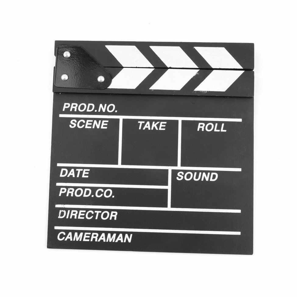 الخشب 20x20x1.5 سنتيمتر مدير الفيديو المشهد Clapperboard TV الفيلم كلابر مجلس المهنية فيلم سليت قص الدعامة