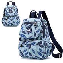 New Color Backpack Nylon Waterproof Wearable Solid Large Capacity College Wind Student Bag Girl Boy Travel