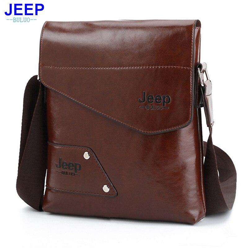 HENGSHENG Fashion mens shoulder bag with high quality pu leather men messenger bags of JEEP men shoulder bags men bag high quality men s shoulder bag