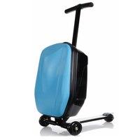 Прохладный 20 дюймов мальчик скутер чемодан Для мужчин тележка 3D Squeeze студент Бизнес Футляр шасси мальчик COOL тележка чемодан