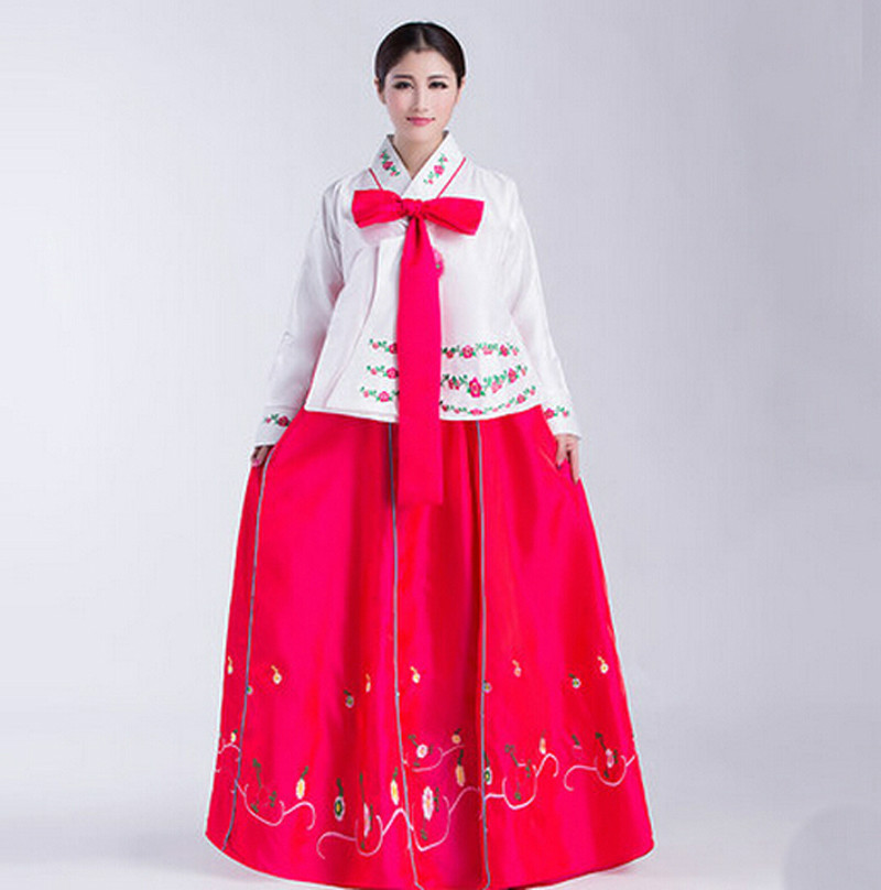 Female Korean Girls Princess Costume Korea Dance Performance Costumes Korean Traditional Dress ...