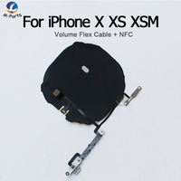 NFC Chip Welded With Volume Flex Cable For iPhone X XS XSM Max XR Wireless Charging Charge Coil Sticker Ribbon Antenna Sensor