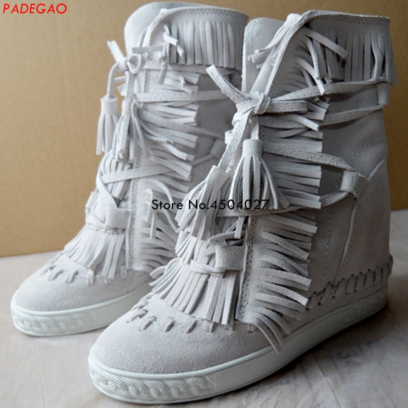 Fashion Tassel Women Boots Platform Lace Up Boots Female Casual Autumn Shoes With Fringe Ladie Ankle BootsFashion Tassel Women Boots Platform Lace Up Boots Female Casual Autumn Shoes With Fringe Ladie Ankle Boots
