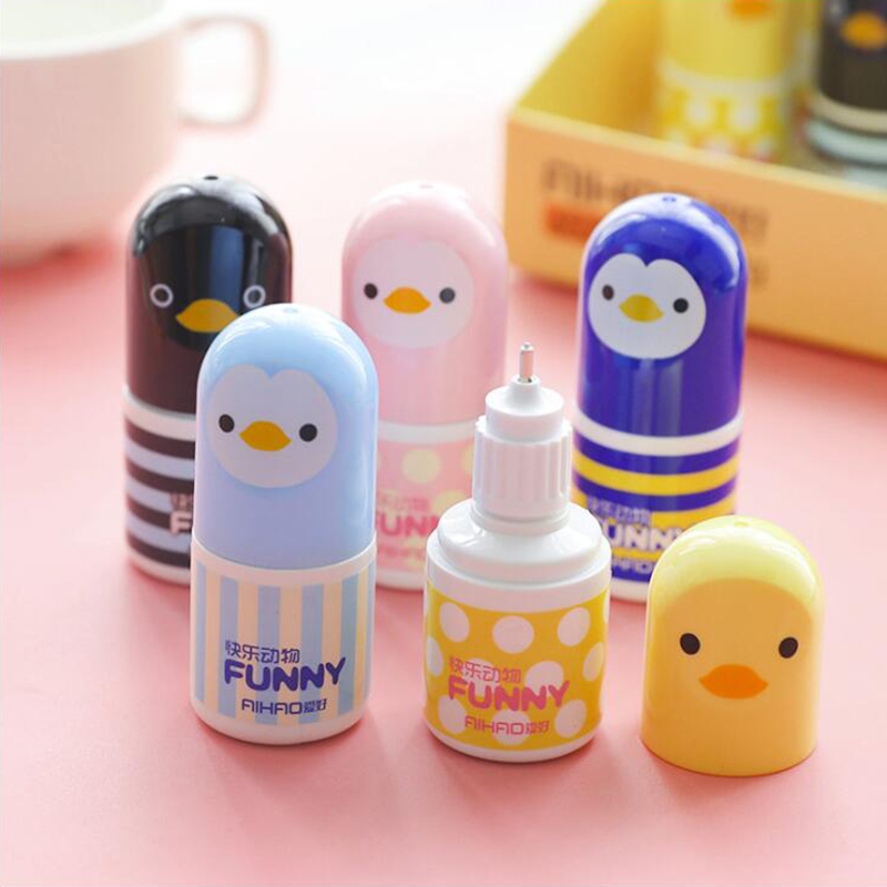Kawaii Cartoon Japanese Colored Chicken Shape Correction Fluid Office Stationery And School Supplies 1PCS